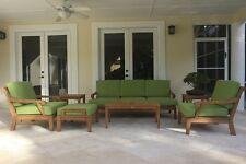 Sack Grade-A Teak Wood 7pc Sofa Lounge Chair Set Outdoor Garden Patio New