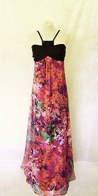 New VERA MONT Size 14 16 Black Red Pink Orange Purple Ladies Designer Maxi Dress