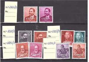 EDIFIL-1296-7-1292-3-1320-1-1328-9-1351-2-SELLOS-ESPANA-ANOS-1960-1961