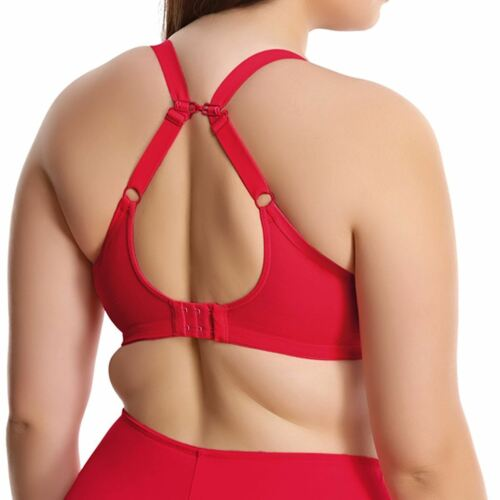 Elomi Mitzi Underwire Banded Bra EL4290 UK Sz E to J Lollipop Red New with tags