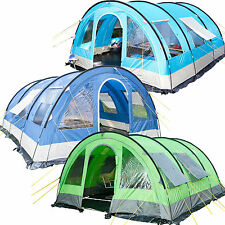 Skandika Helsinki 6 Person Man Tunnel Family Group Tent 5000mm Water Column New