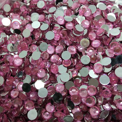 New 4//6//8//10mm Flat Back Crystal Beads Resin Rhinestone Gems Mosaic Craft