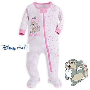 Baby & Toddler Clothing Genteel New Disney Store Thumpers Bunny Friend Zip One Piece Pajamas Baby Girl 18/24 M Promoting Health And Curing Diseases