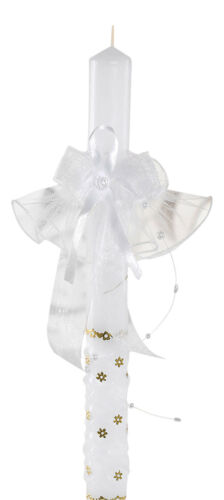 Kerzentuch kerzenrock bougies Bijoux Communion Baptême Mariage Blanc Nouveau