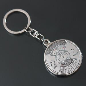 cool 50 year calendar key chain keyring keyfob metal alloy ring