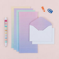 Mini Lovely Rainbow Letter set - 4sh Lined writing stationery paper 2sh Envelope