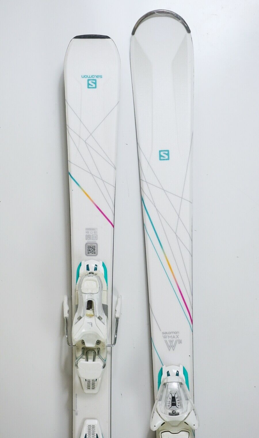 Ski Salomon W-MAX 04 Damen Rocker 160cm + Lithium Bindung Modell 2018 (FH604)