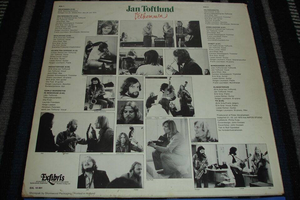LP, Jan Toftlund, Velkommen