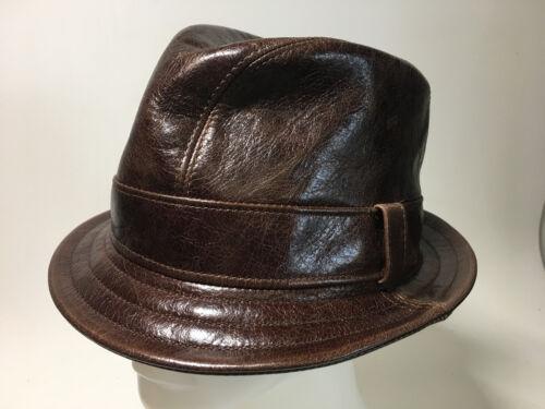Jill Corbett Fedora Snatch hat choc brown eather Handmade S//M//L//XL//XXL//XXXL
