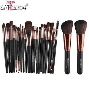 22-piezas-PRO-Cepillo-Cosmetico-Maquillaje-Colorete-Sombra-De-Ojos-Base-Brochas
