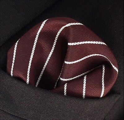 Hankie Pocket Square Cotton Handkerchief Dark Red CH252