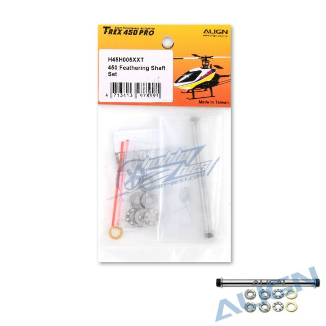ALIGN T-REX 450 L / Plus / Sport / Pro Feathering Shaft Set H45H005XXW New