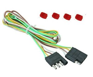 48-034-Trailer-Light-Wire-Harness-4-Way-Wire-Flat-Connector-Trailer-Light-Extension