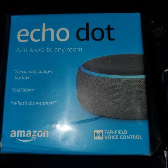 Amazon Echo Dot 3rd Generation w/ Alexa Voice Media Device - Charcoal BRAND NEW!
