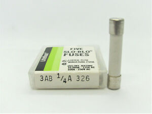 5x 1 4a 1 1 4a 7a 250v slo blo ceramic fuse littelfuse 326 rh ebay com Sony Stereo Fuse 125V 8A 8A 250V Ceramic Fuse
