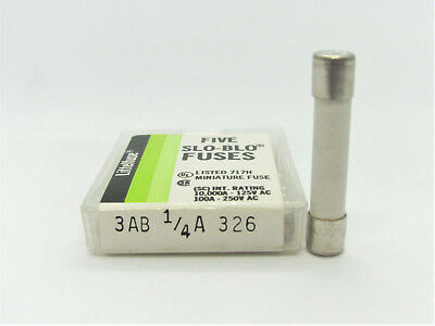 5x 6.3x32mm *NOS* 1//100A to 8A 250V  Slo-Blo Fuse Littelfuse 313 Series 3AG