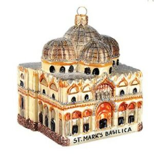 St-Saint-Marks-Basilica-Polish-Glass-Christmas-Ornament-Venice-Italy-Made-Poland