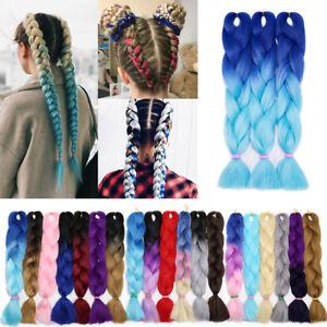 Synthetic Kanekalon Jumbo Braiding Hair Extensions Sew In 3 Tone