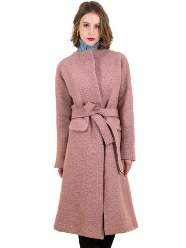 Cappotto a donna lungo girocollo in maniche invernale da lunghe lana aa6Rxn7q5