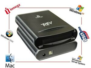 IOMEGA-REV-35GB-USB-2-0-External-Drive-Laufwerk-Sicherung-Daten