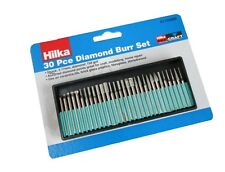 30PC Hilka Diamond Burr Set Engraving Fits Most Rotary Tools For Jewellery Maker