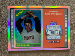 2002-Topps-Archives-Reserve-JUAN-MARICHAL-Game-Used-Jersey-San-Francisco