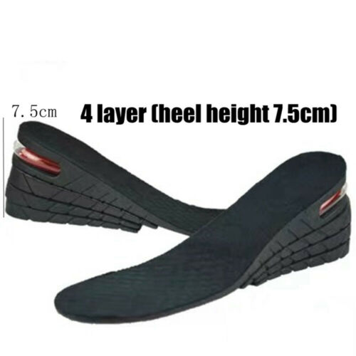 Increase Insole Air Cushion Heel 1-4 Layer Heighten Flat Foot Care Unisex