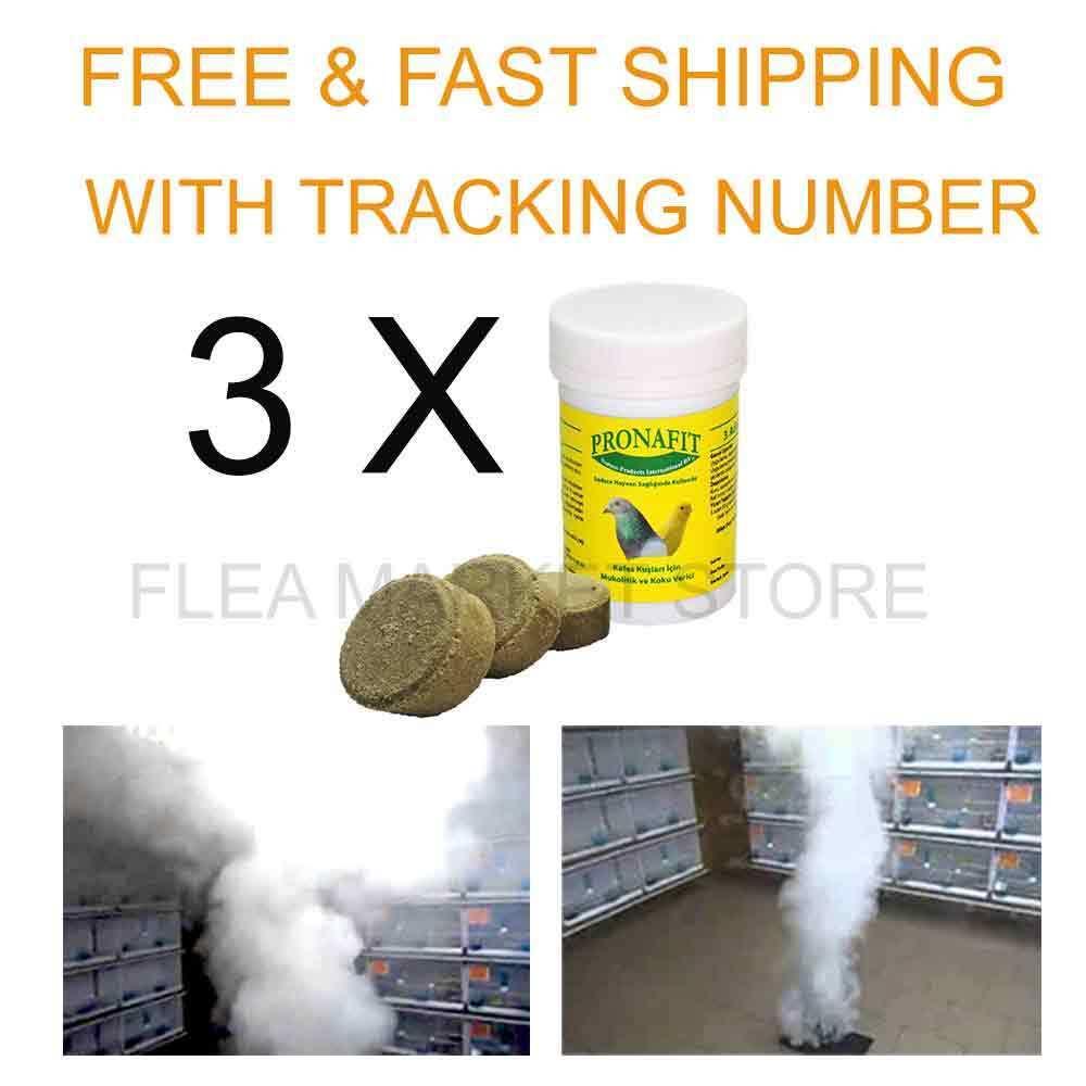3 X Box Pronafit pro-smoke 9 pieces smoke pellets bomb health birds bird cold