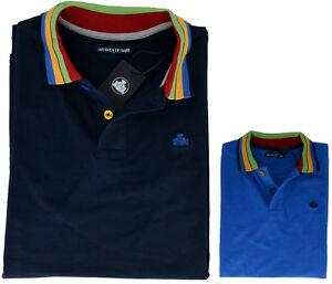 Polo-Maglia-T-Shirt-Uomo-Maniche-Corte-Colletto-Fantasia-Armata-Di-Mare-Polo-T-S