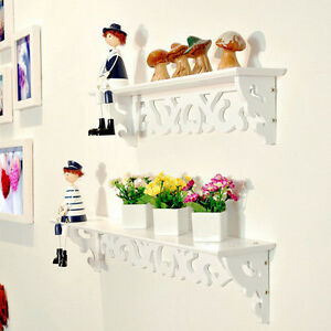 Pvc Board White Carve Display Wall Shelf Rack Storage