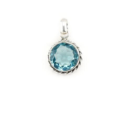 Blautopas remolque Sterling plata//925 encararán alrededor de azul señora