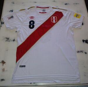 Image is loading Peru-REPLICA-Russia-2018-World-Cup-Jersey-Cueva 10f04ea20