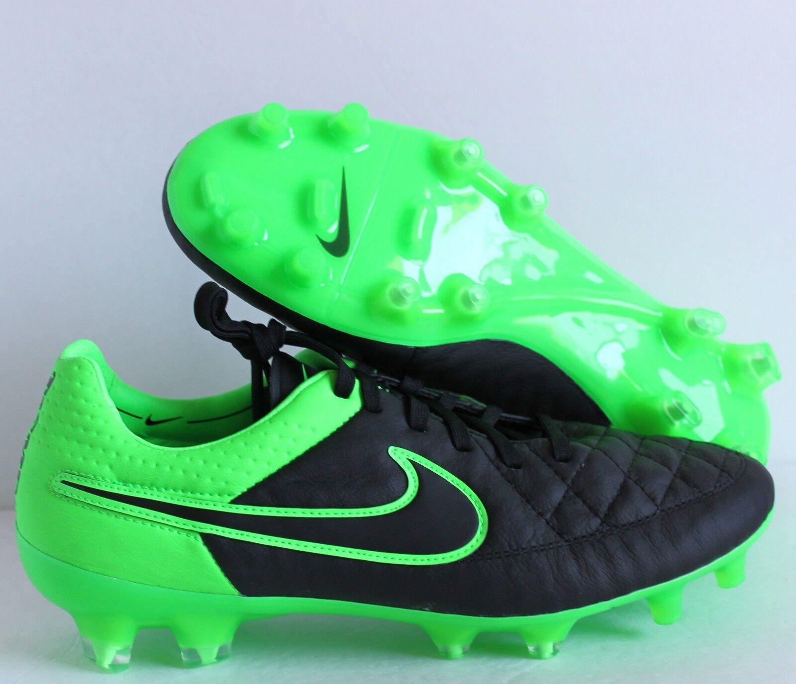 Nike tiempo legende schuh / fg fußball - schuh legende schwarz / grün sz 8,5 [631518-003] 1e5a88