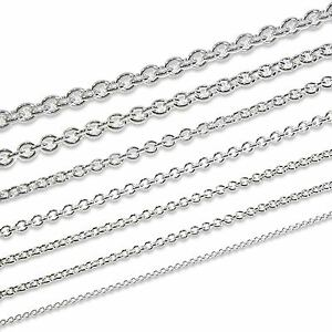 ANKERKETTE-Rund-925-STERLING-SILBER-Kette-MASSIV-Halskette-Collier-Damen-Herren