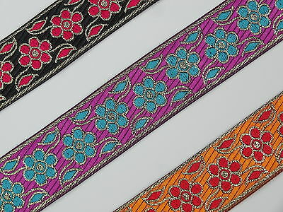 """3 Yd Jacquard Trim 1.20/"""" wide Woven Border Sew Embroidered Ribbon Lace T855"""
