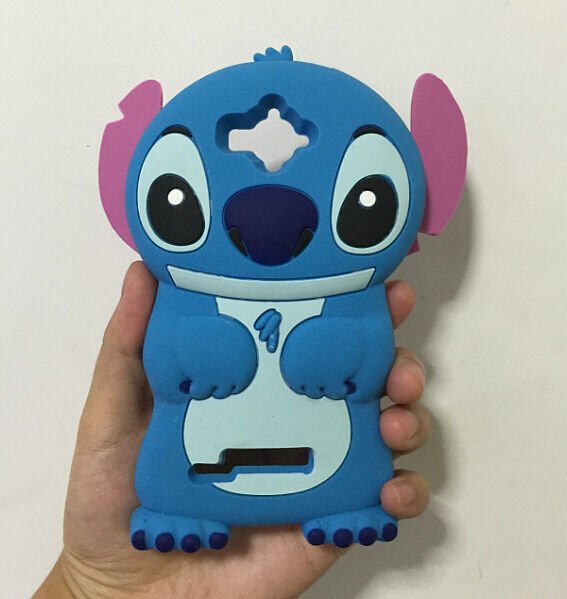 3D Blue Stitch Silicone Back Cover Case For Alcatel One Touch POP C7 OT 7041D