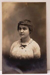 RPPC-Victorian-Girl-Lovely-Lockett-Real-Photo-Postcard-F4
