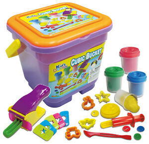 22-Piece-Cube-Bucket-Clay-Craft-Dough-Gift-Set-Tubs-amp-Shapes-Children-Toys-Xmas