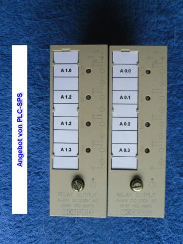 1 Pièces Relais Output Module Relais Output 4 x 30 V DC//230 V AC 6es5 452-8mr11 OK.