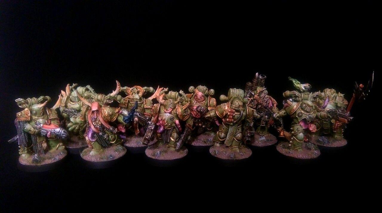 READY TO SHIP PRO-PAINTED Death Guard Plague Marines Squad Kill Team 10 models