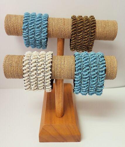 Sea Grass with Wood Base Bracelet Display