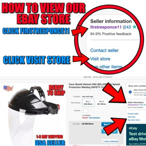 CLEAR FACE SHIELD Anti Splash Protection WELDING HELMET 1-3 Day Shipping USA