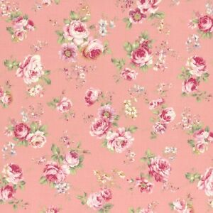 Cottage-Shabby-Chic-Lecien-Rococo-Sweet-Med-Roses-Cotton-Fabric-31053L-20-BTY