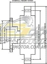 DAYCO-Fanclutch-FOR-Ford-Courier-Jun-1987-Apr-1996-2-2L-8V-OHC-DFI-Diesel-R2