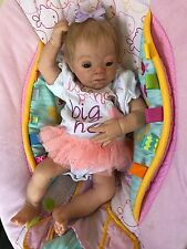 reborn baby girl doll from Pebbles sculpt LE ooak art down syndrome tribute