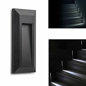 Wall Mounted Deck Lights : Outdoors Stair Step LED Light Wall Mount Deck Lighting Garden Path Conner Lamp