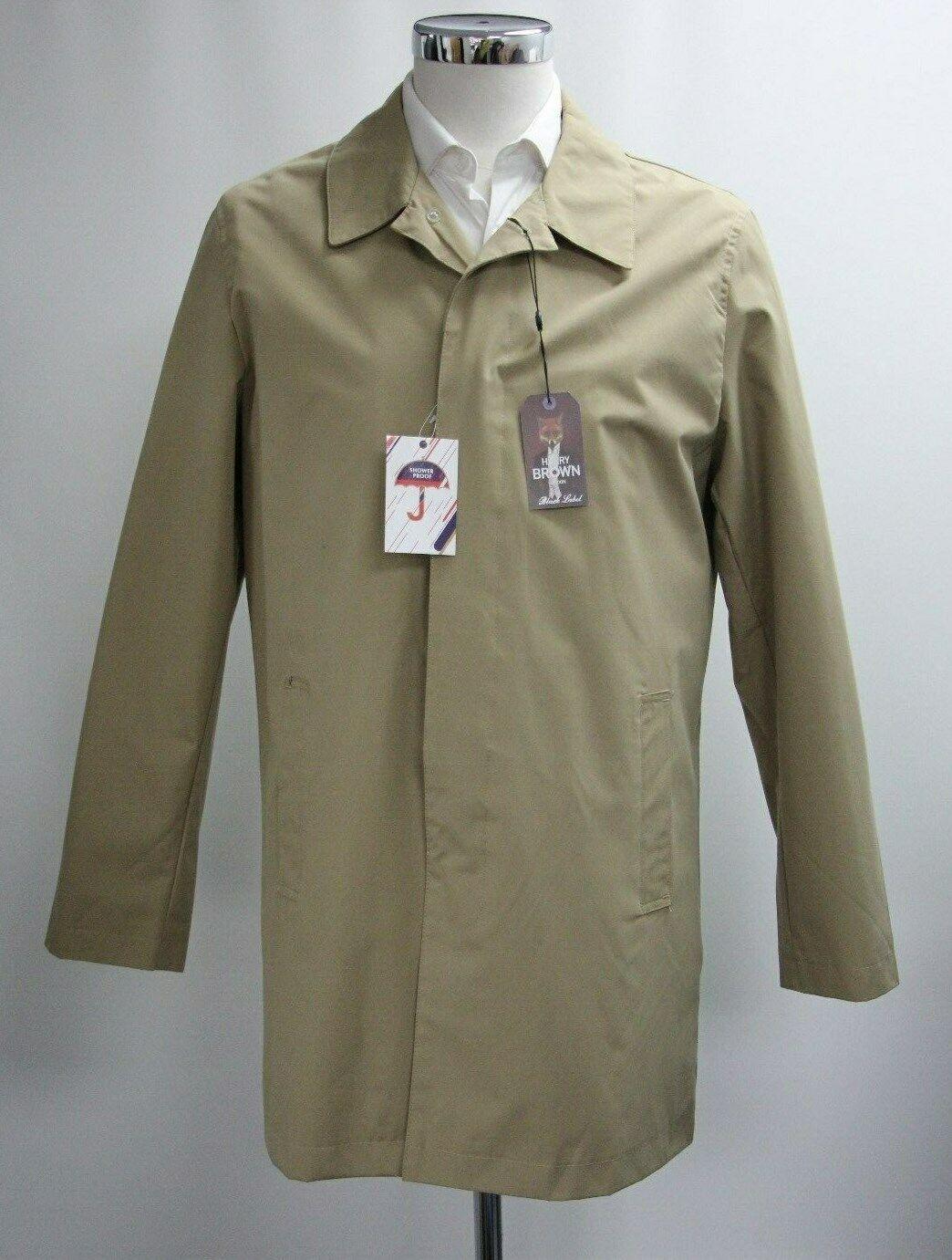 Men's Harry Brown Dark Cream Coat (M)..Sample 3982