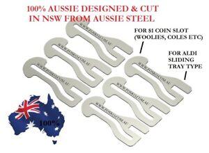 6x ORIGINAL FOSKO AUSSIE SHOPPING TROLLEY MASTER KEY , $1 COIN + ALDI, F29
