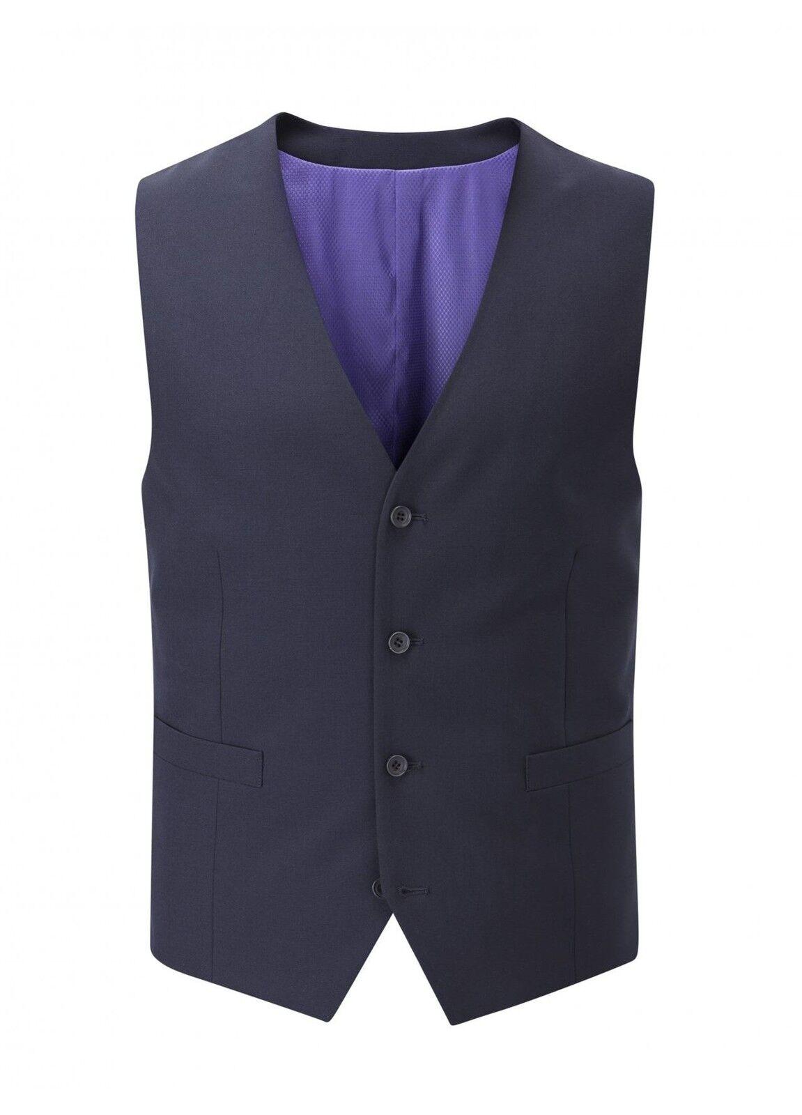 SKOPES Darwin Plain Navy Mens Formal Waist Coat