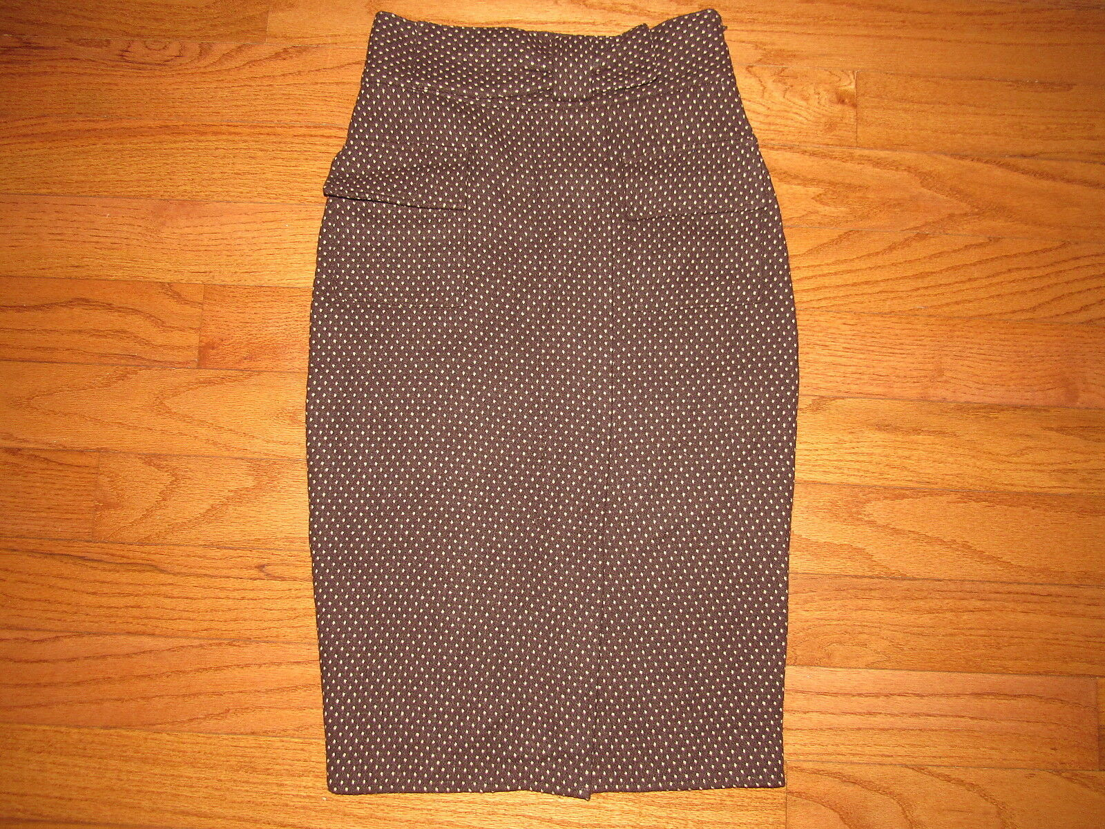 Diane von Furstenberg Brown Polka Dot Marple Pencil Skirt 6